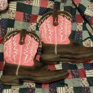 Breast cancer awareness cowboy boots